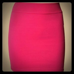 BCBG Bright Pink Mini Skirt
